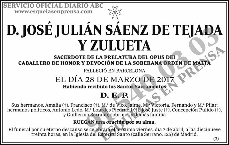 José Julián Sáez de Tejada y Zulueta